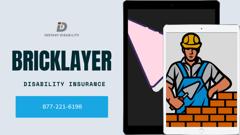 Bricklayer disability insurance